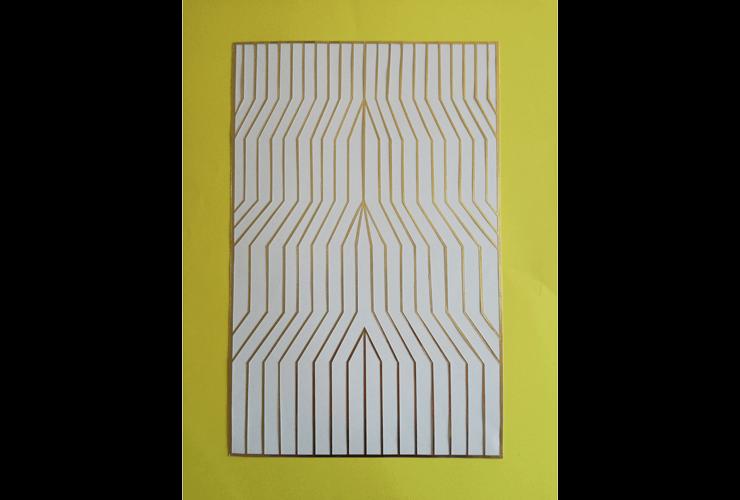 El Alto, 2017. Dibujo recortado.                     50x70 cm.