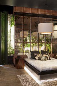 Dormitorio con baño de Egue y Seta para HP, en Casa Decor 2016