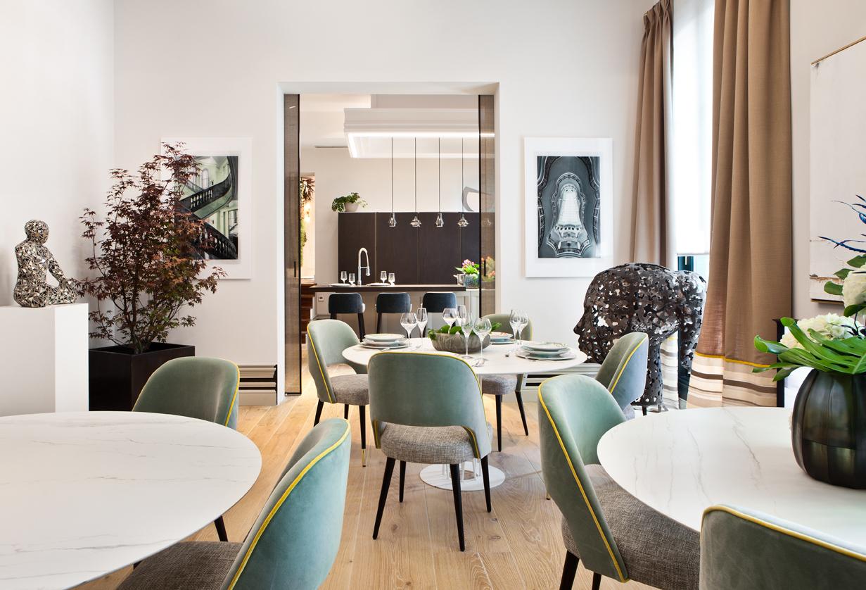 Comedor privado decorado por Ele Room62 en Casa Decor 2016