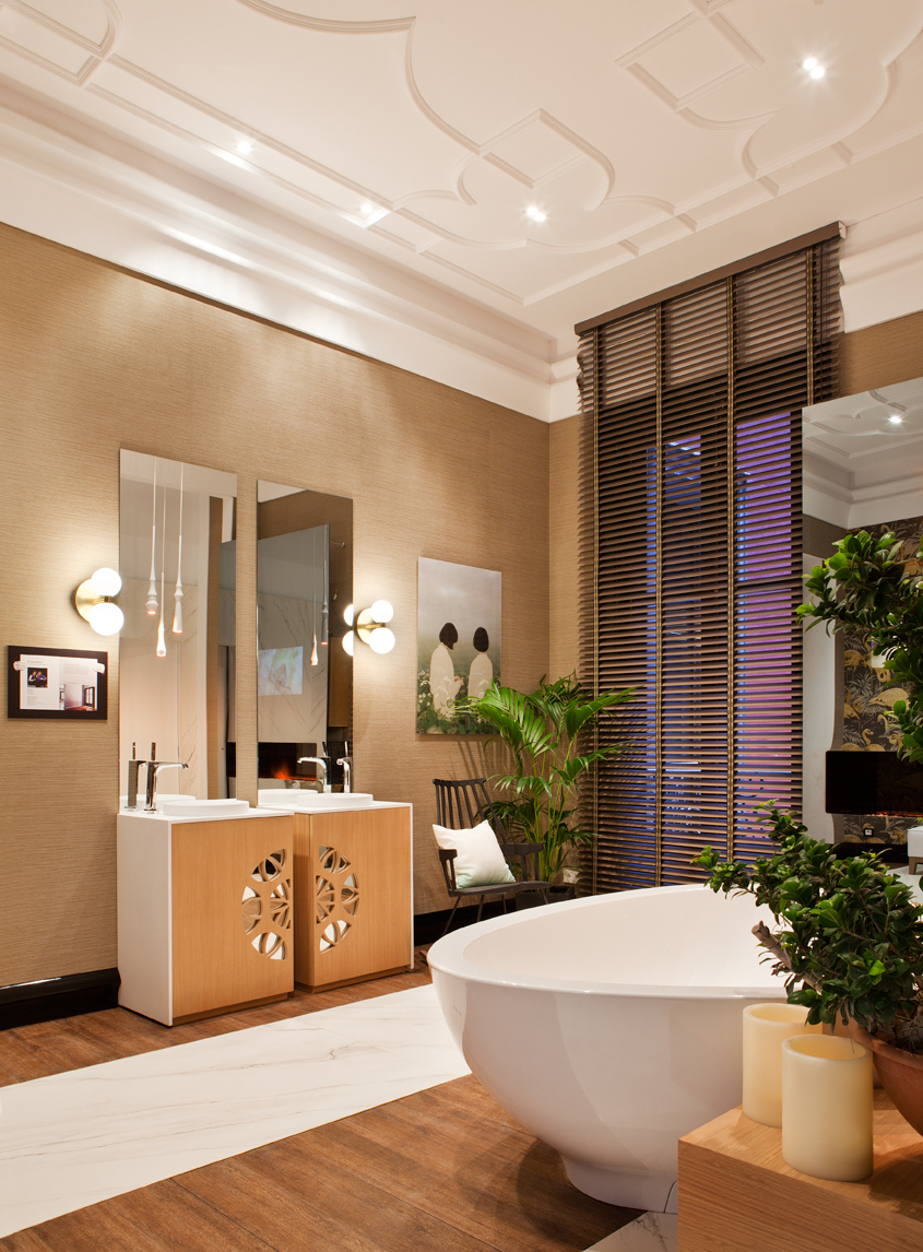 Cuarto de baño público de Ele Room62 en Casa Decor 2016