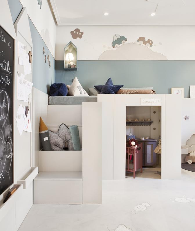 Dormitorio para dos hermanos por montse cot y eulalia - Dormitorios infantiles barcelona ...