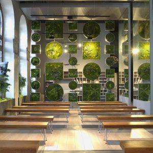 """Catherine Grenier y Claudia Bonollo, auditorio y sala de expositores, """"Organiques"""", en Casa Decor Madrid 2012"""