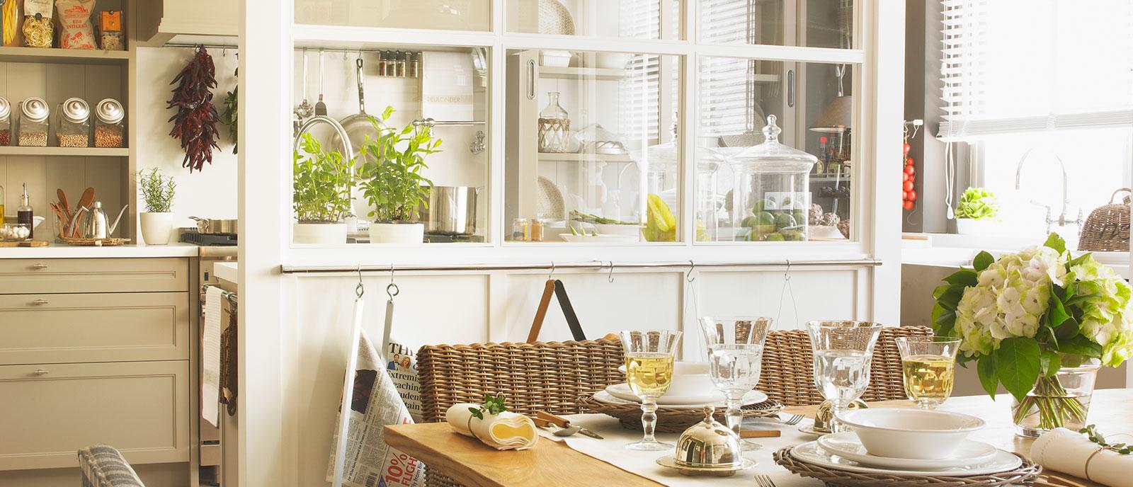 «Cocina, comedor, despensa y planchador»