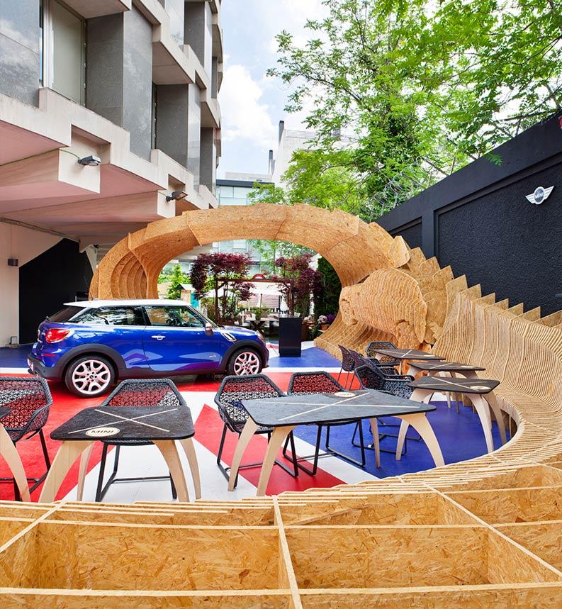 Espacio Mini Paceman Lounge – «Mini», Bedv Arquitectos
