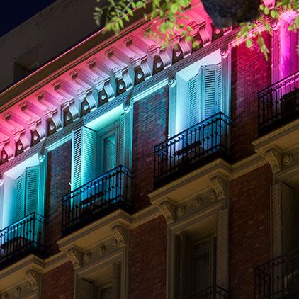 Intervención de fachada – «Classic Coloured», MartaArcaya y PaulaArenas