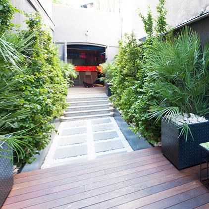 Jardín sencillo y ordenado – «Oasis urbano», Jesús Ibáñez