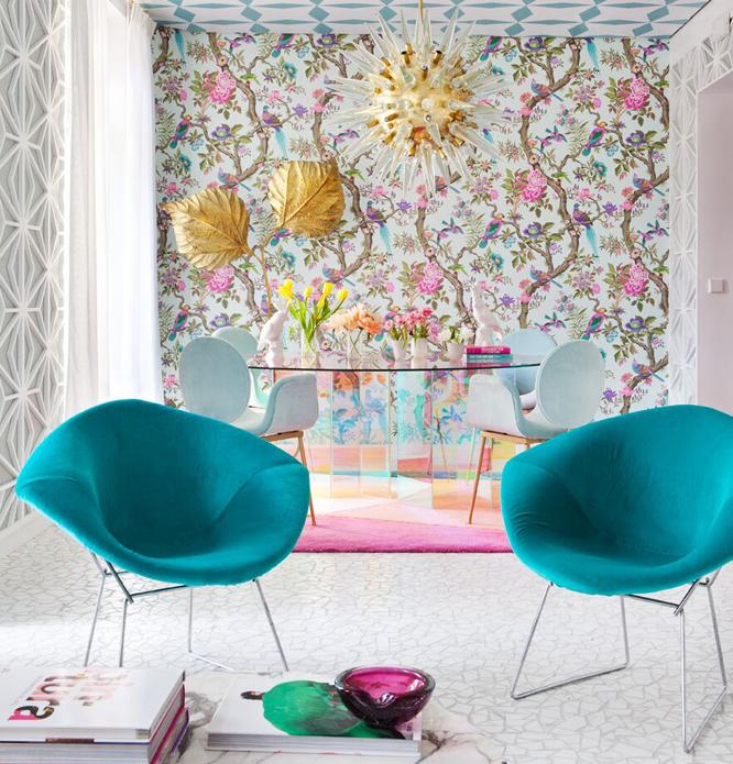 tapizados a todo color en Casa Decor 2017