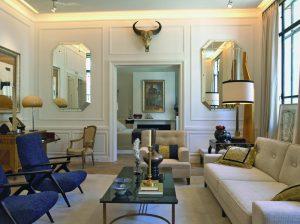 Salón con dormitorio y baños integrados de Javier Castilla en Casa Decor 2007