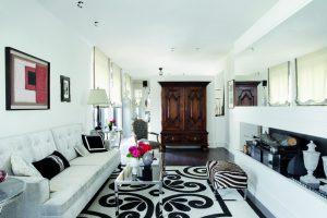 Suite en blanco y negro proyectada por Javier Castilla en Casa Decor Madrid 2009