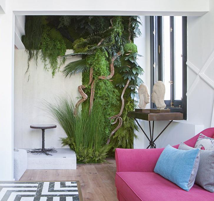 Jardines Verticales Con Plantas Naturales Y Preservadas En Casa Decor