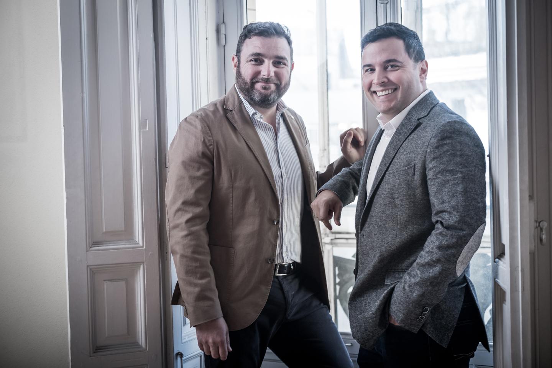 José Mª Estepa y Luiz Fabiano