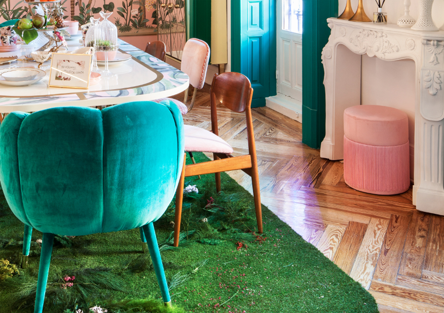 Tendencias en Casa Decor 2018: flecos en el espacio de Virginia Gasch
