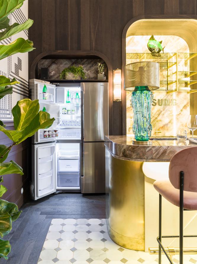 Frigorífico Samsung en el restaurante diseñado por Beatriz Silveira en Casa Decor 2018
