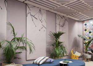 Obras de Ana Escalera (El Presente Perfecto) en el espacio Procolor, diseñado por ESNE