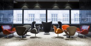 Diseños de Arne Jacobsen para el Radisson Collection Royal Hotel, Copenhagen