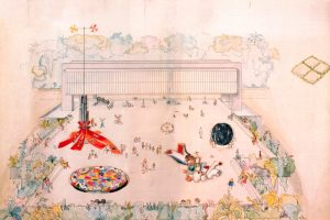 Lina Bo Bardi. Estudo preliminar. Esculturas practicáveis do Belvedere no Museu Arte Trianon