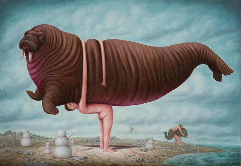 Le bras long, de Bruno Pontiroli, 0,81 x 1,11 m-2017. Fousion Gallery