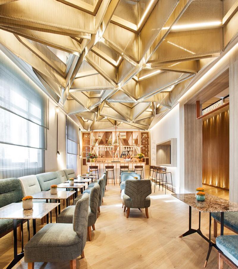 Editores Textiles. Restaurante Casa Decor 2019