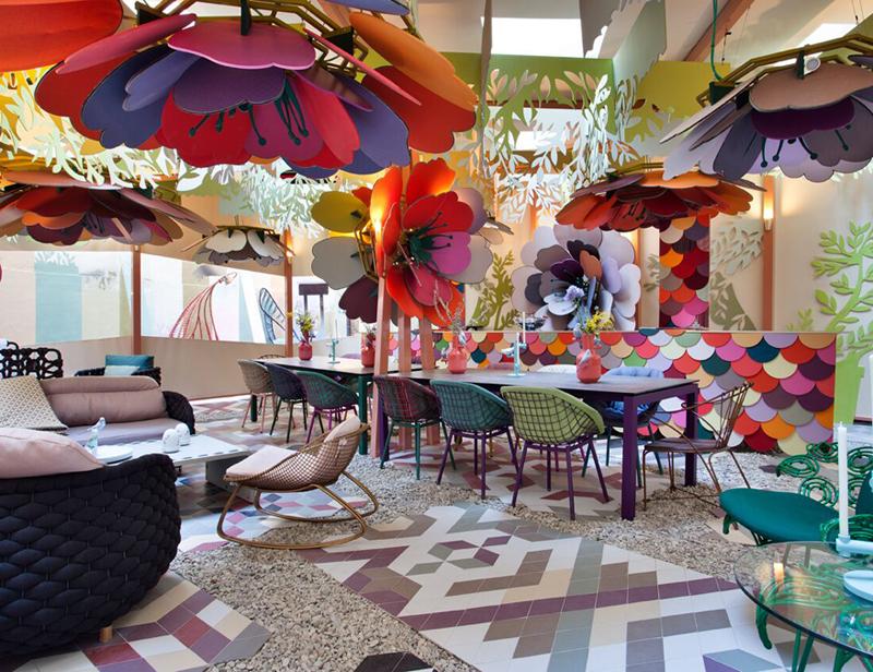 Editores Textiles. Espacio Sunbrella por Izaskun Chinchilla en Casa Decor 2019