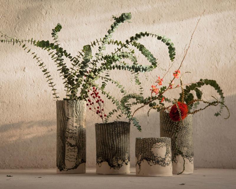 Producto Fresco. Jarrones de cerámica.