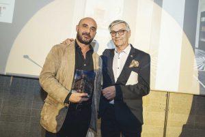 Diego Rodríguez, Presidente del Jurado, con Ángel Verdú, ganador del Premio al Mejor Proyecto 2019