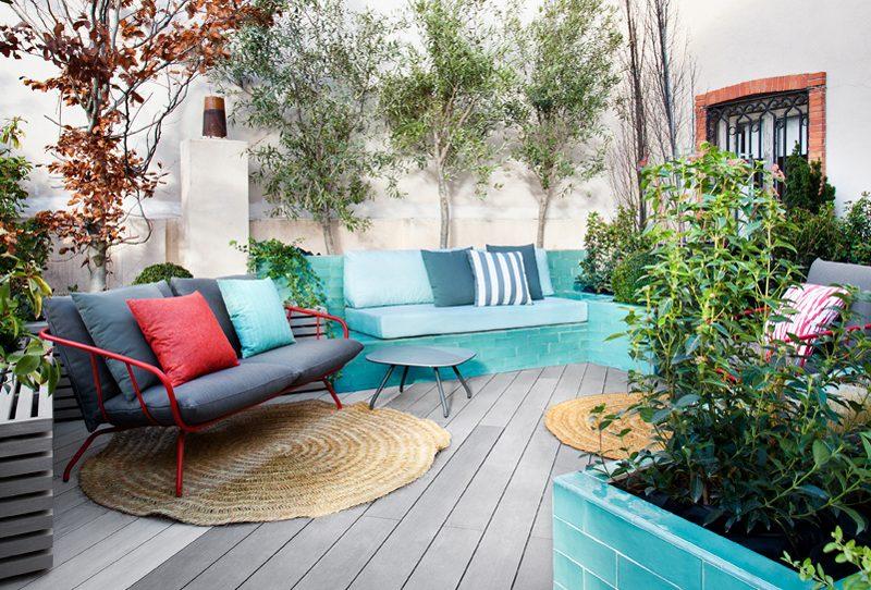 Terraza «Un bosque en un ático» por Pia Paisajismo en Casa Decor 2019