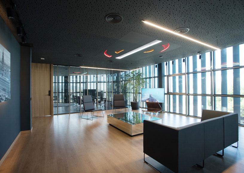 Decoración interior de las oficinas del Grupo Sureste, por ...