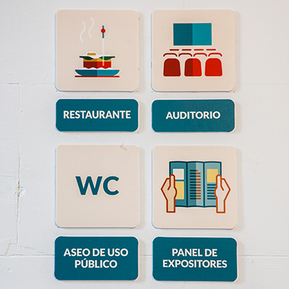 Señalética «Crema y Pastel», AmeliaMacedoGarcía, AnaMárquezdeLama, MaríaPérezPacheco y LydiaSañudoLópez