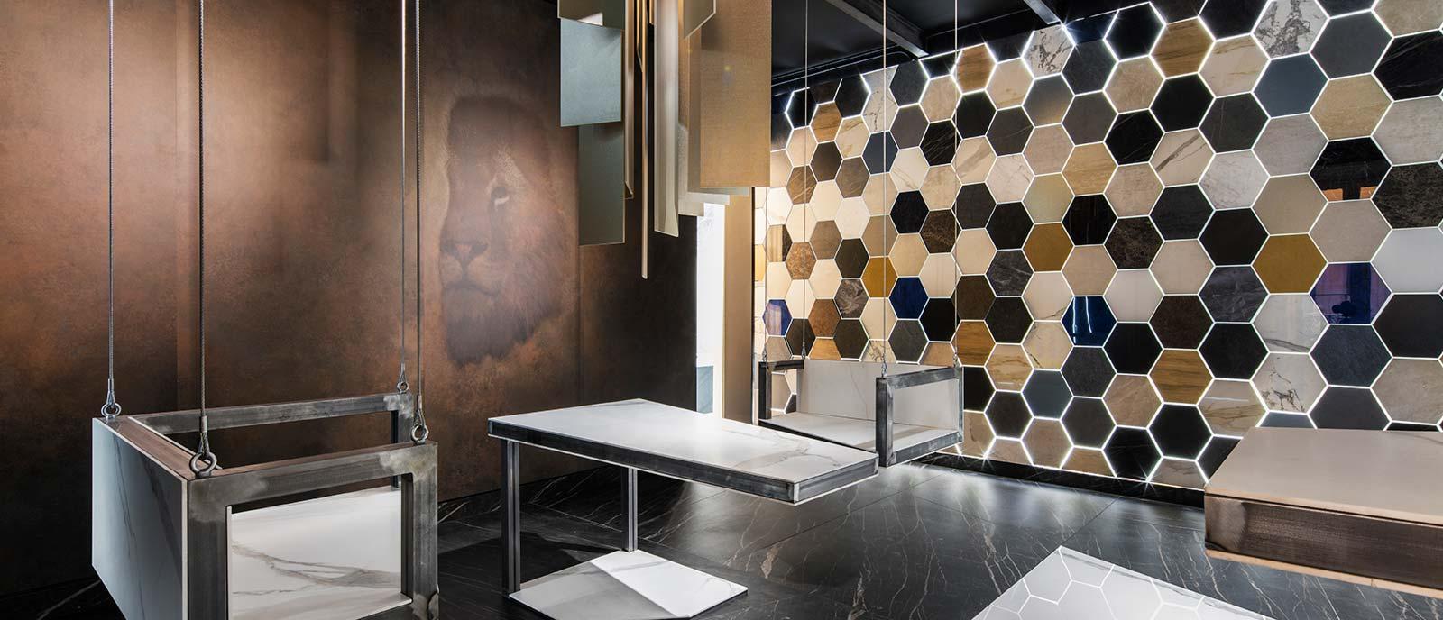 Galería de arte – «Digital Art Gallery» – Espacio Laminam