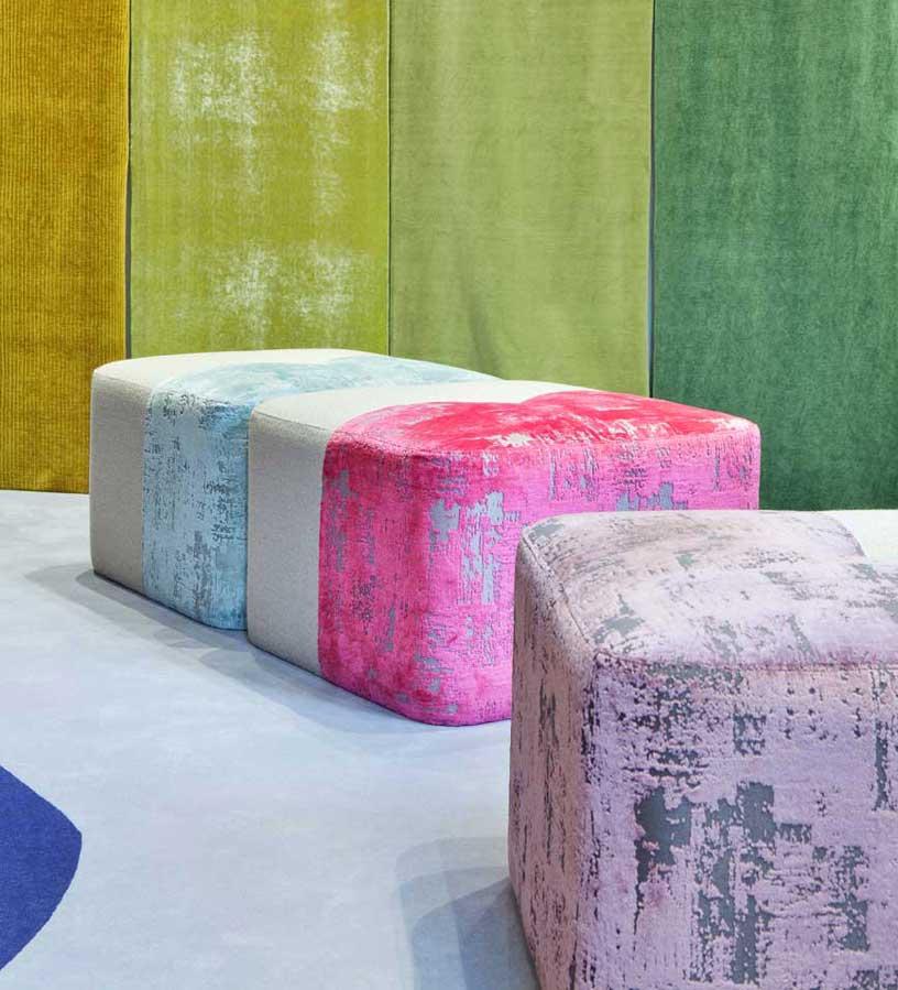 """pufs """"Half"""". diseñados por Eli Gutiérrez en Casa Decor 2020"""