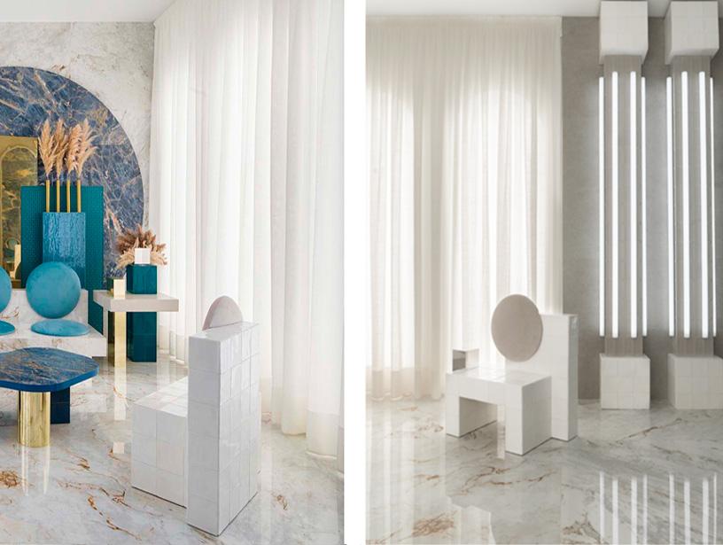 """silla """"Ceramic chair"""" diseñada por Masquespacio en Casa Decor 2020"""