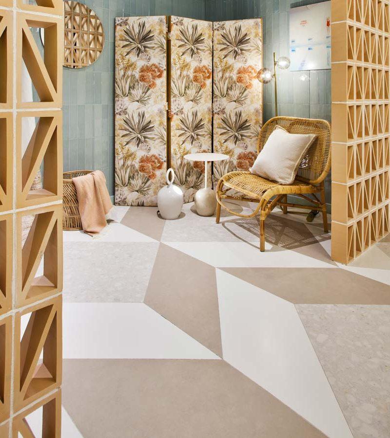 Suelos de piedra natural, sinterizada y cerámica en Casa Decor 2020